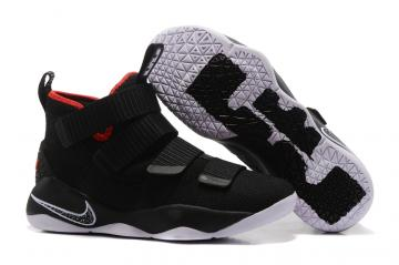 reputable site 33804 e8a27 Nike Zoom LeBron Soldier XI 11 Men Basketball Shoes Black White Red 897645 -002