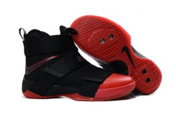 new concept d8230 0da82 Nike Lebron Soldier 10 EP X Black Red Basketball Shoes Men 844378