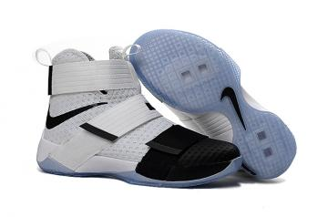 competitive price 7a203 bc137 Nike Zoom Lebron Soldier 10 SFG White Black Men Sneakers Shoes 844378-102
