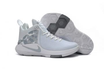 0d0082b62a8 Nike Zoom Witness EP Lebron James White Camouflage Men Basketball Shoes  884277