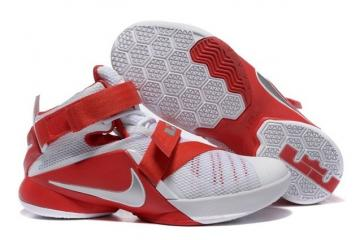 online store bcd3a 0939a Nike Lebron Soldier IX 9 PRM EP White Red Men Basketball Shoes 749491 601