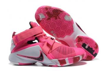 competitive price 69b4e de63d Nike Zoom Lebron Soldier IX Men Basketball Breast Cancer Awareness Shoes  749417-601