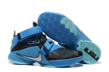 innovative design cb085 563db Nike Zoom Soldier 9 IX Black Blue Lagoon White Lebron Basketball 749417-014