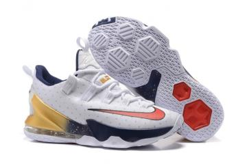 buy online e7bd3 4bc5a Nike LeBron Low 13 XIII Olympic Gold USA Champion July 4th Red White Blue  831925-164