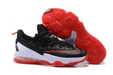 newest 9d622 ce75d Nike Lebron XIII Low EP 13 James Bred Black Red White Men Basketball Shoes  831926-061
