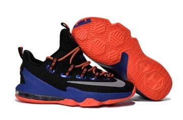 pretty nice a5f82 3e30f Nike Lebron XIII Low EP 13 James Men Basketball Sneakers Shoes Black Blue  Orange 831926