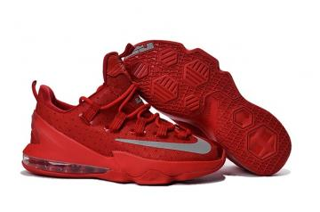 800d00cdfa60 Nike Lebron XIII Low EP 13 James Men Basketball Sneakers Shoes USA Red Grey  Silver 831926