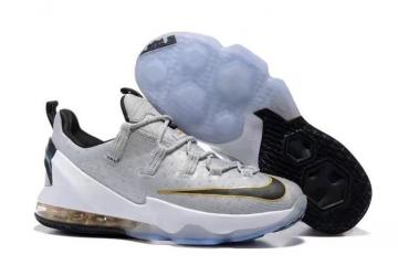21c25d9a0e1 Nike Lebron XIII Low EP James 13 Men Basketball Shoes Wolf Grey Black Gold  831926