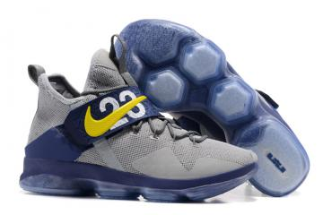 760370202c62 Nike Zoom LeBron XIV 14 blue grey Men basketball shoes 852405-004