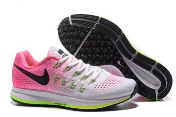 93121eb19a5 Nike WMNS Air Zoom Pegasus 33 Women Running Sneakers White Pink Green  831356-106