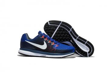 a371cb81175f6 Nike Air Zoom Pegasus 34 EM Navy Blue White Men Running Shoes Sneakers  Trainers 880555-414