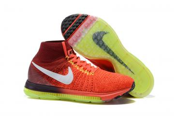 huge discount 4a5c0 d12fb Nike Zoom All Out Flyknit Light Red Spring Green Men Running Shoes Sneakers  Trainers 844134-616