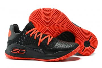 c50c801101e9 Under Armour UA Curry IV 4 Low Men Basketball Shoes Black Red 1264001
