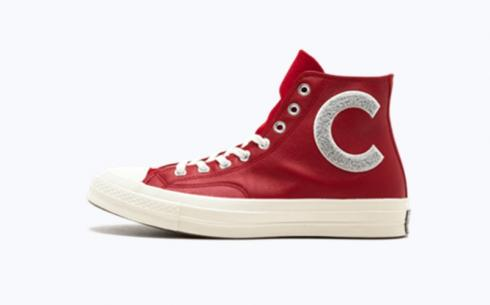 Converse CTAS 70 Hi Enamel Red Wolf Gr Shoes