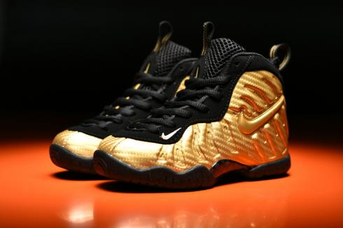 Nike Air Foamposite Pro Kid Shoes Gold