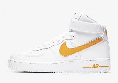 Nike Air Force 1 High 07 3 White University Gold AT4141 101