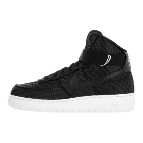 best sneakers ba5b5 aa1c7 Prev Nike Air Force 1 High 07 LV8 Woven AF1 Shoes Black White 843870-001