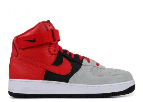 Nike Air Force 1 High 07 Lv8 Wolf Grey Red University Black White