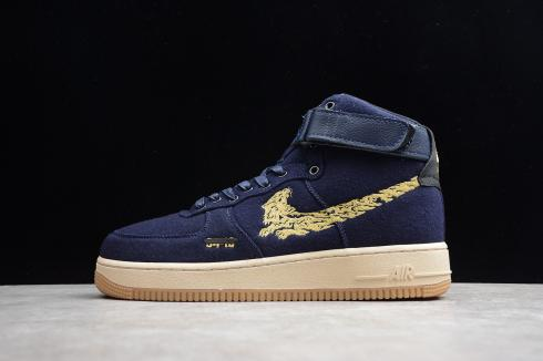 nike air force one dark blue
