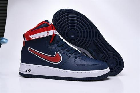 Nike Air Force 1 High Retro 07 LV8 Sport Dark Blue Red AV3938-400