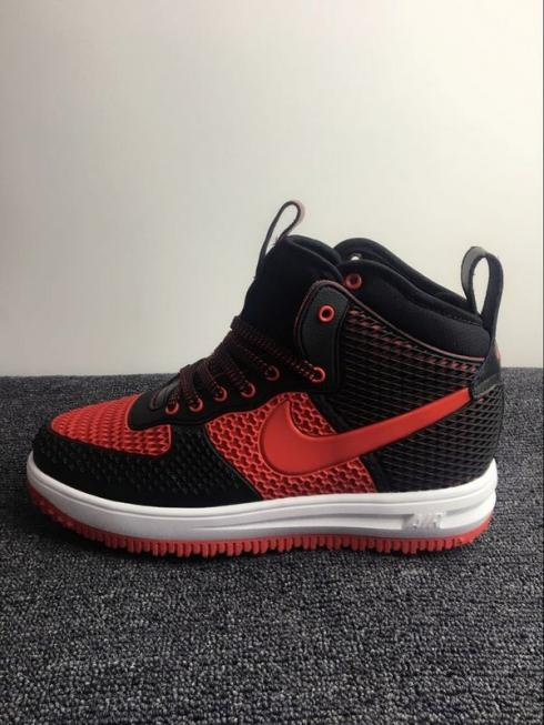 Nike Air Force 1 High Kpu Black Red Men Shoes Sepsport