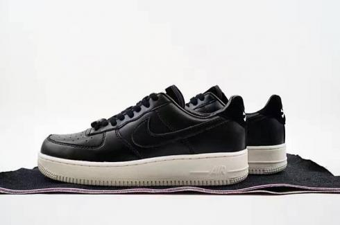 e0e61cd0ed5 Nike Air Force 1 07 LE Black Suede White 315122-057 - Sepsport