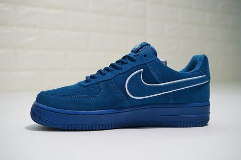 Nike Air Force 1 07 LV8 Suede Blue Casual Shoes AA1117 400