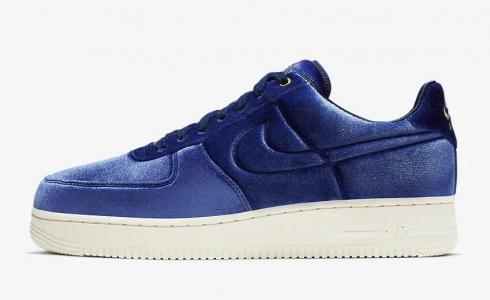 Nike Air Force 1 07 Premium 3 Blue Void Sail Metallic Gold Blue Void AT4144 400