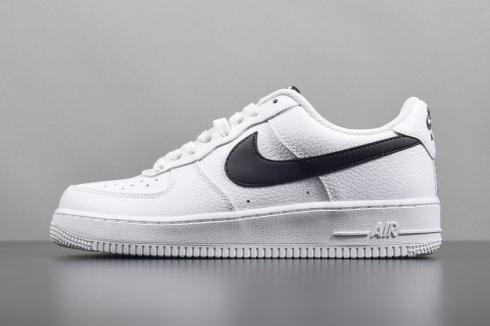 release date: a3bea b3e02 Nike Air Force 1 Low 07 LV8 Black Amarillo Yellow Swoosh AA4083-002 Item  No. AA4083-002