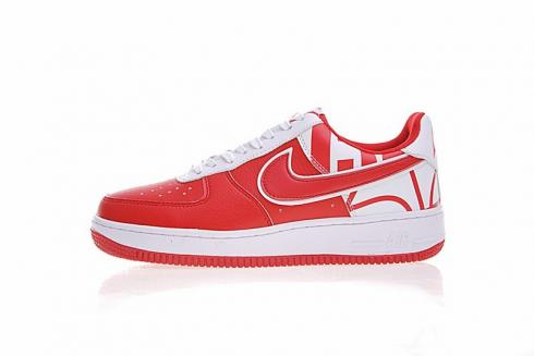 nike air force 1 low red white