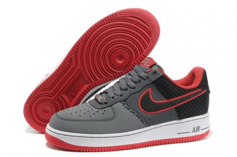 Nike Air Force 1 Low Black Wolf Grey Challenge Red White 488298