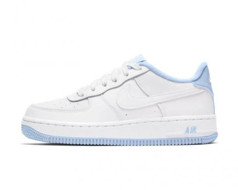 Nike Air Force 1 Low GS White Hydrogen Blue Shoes CD6915-103 ...