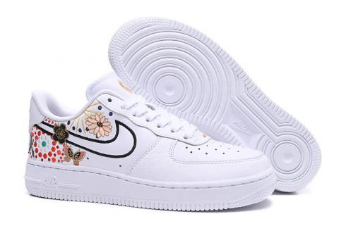 Nike Air Force 1 Low Lunar New Year White Flower Colorful AJ8298-100