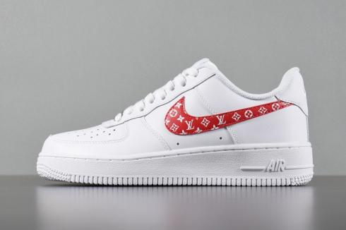 Nike Air Force 1 Low White Red Casual Shoes 923027,100