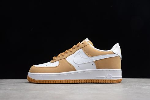 Nike Air Force 1 Low White Wheat Running Shoes 306353 991