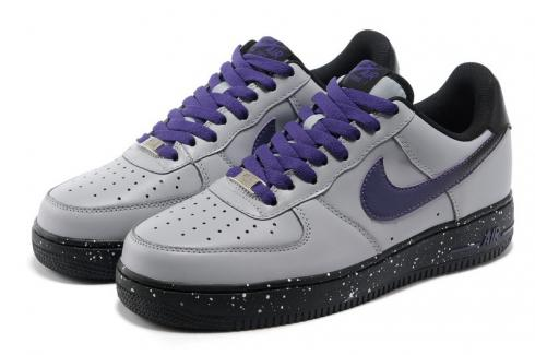 Nike Air Force 1 Low Wolf Grey Court Purple Casual Shoes 488298 060