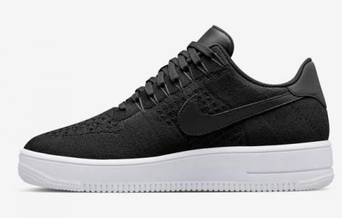Nike Air Force 1 Ultra Flyknit Low Black Dark Grey White NSW