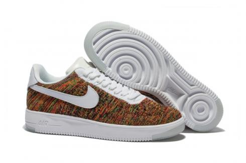 Monumental cilindro Guerrero  Nike Men Air Force 1 Low Ultra Flyknit White Gold Multi Color 817419 -  Sepsport