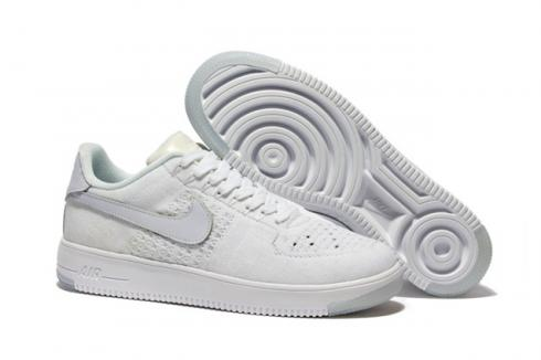 Nike Men Air Force 1 Low Ultra Flyknit White White Ice 817419 100