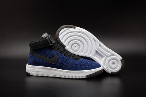 Nike AF1 Ultra Flyknit Mid Air Force 1 Navy Black Men Casual Shoes 817420 400