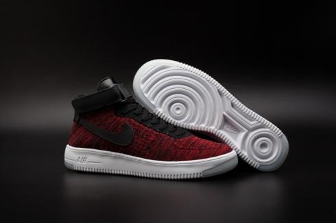 sexual Establecer necesario  Nike Air Force 1 AF1 Ultra Flyknit Mid University Red Black White  817420-600 - Sepsport