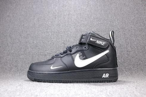 Nike Air Force 1 Mid 07 LV8 Utility Black White 804609 001