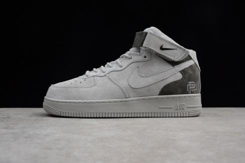 Reigning Champ x Nike Air Force 1 Mid 07 Light Grey Black