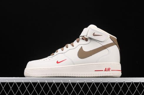 Nike Air Force 1 Mid Cream Light Brown Mens Running Shoes 808788 ...