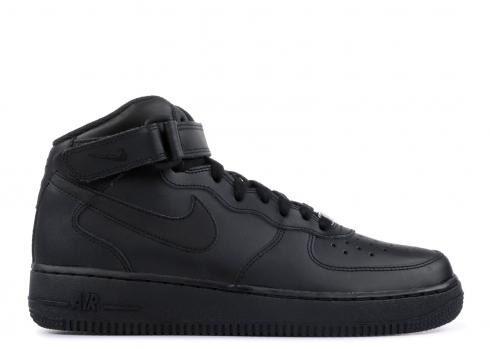 Big Kids Sneakers Black 314195-004 Nike Air Force 1 Mid GS