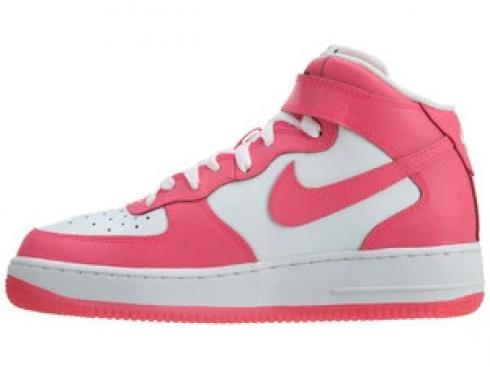 Nike Air Force 1 Mid GS White Hyper White Hyper Pink Shoes 518218 ...