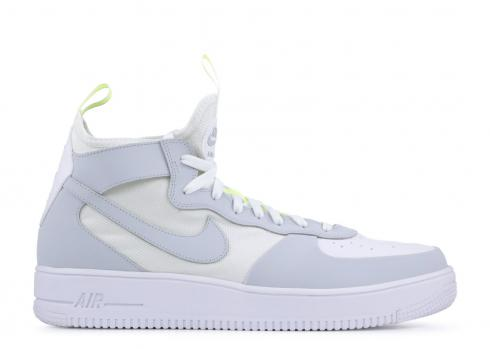 Nike Air Force 1 Ultraforce Mid White Pure Platinum Volt 864014-102