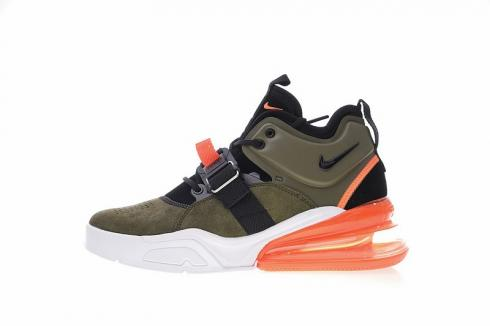 Nike Air Force 270 Medium Olive Challenge Red Running Shoes AH6772 200