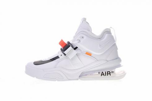 promo code 1fd8f 6ccef Nike Air Force 270 White Black Varsity Running Shoes AH6772-010