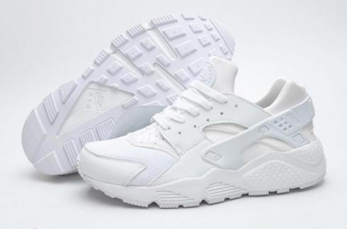 Nike Air Huarache Triple White Men Women Shoes 318429 111